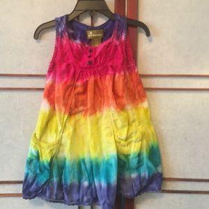Tye Dye Dress with Bright Colors.